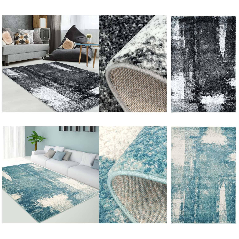 Teppich Modern Designer Wohnzimmer Impression Vintage Pastel-Blau ...